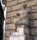 The ancient Roman statue Pasquino